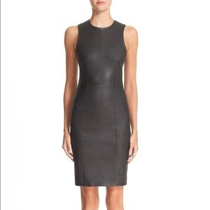 T by Alexander Wang Stretch Nappa Leather Dress